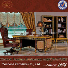 0061 luxury royal home and house office furntiure, wood carved writing desk, office chair