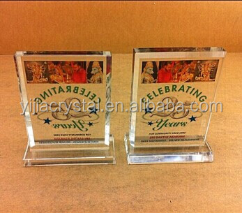 2014 Printing Religious Crystal Trophy Wholesale, Cheap Crystal Award for Religious Gifts
