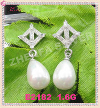 fashionable cheap jewelry pink pearl earrings