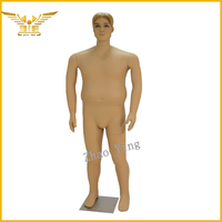2015 plus size mannequin in skin strong fat mannequin for male