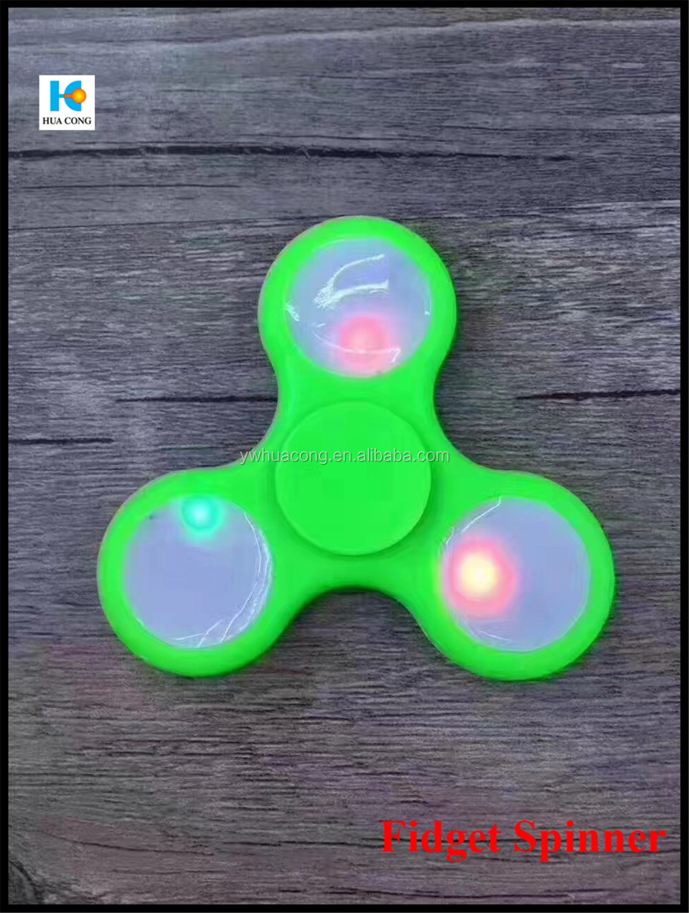2017 hot selling various color light fidget spinner Fidget Spinner from directly factory