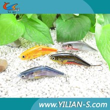 2015 New Arrival fishing tackle treble hook 3D eyes segment trout hard body soft tail fin fishing lure wholesale