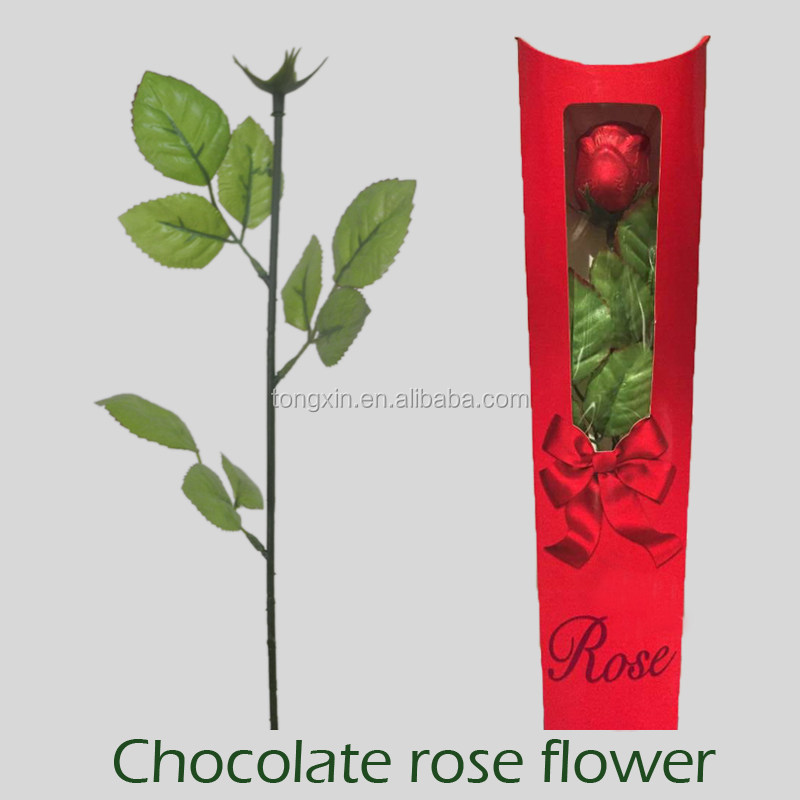 chocolate rose flower stem without flower for valentine festival