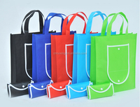printed custom made foldable shopping non woven bag