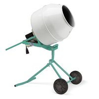 Imer Minuteman II 5 Cubic Foot Portable Electric Concrete Cement Mixer