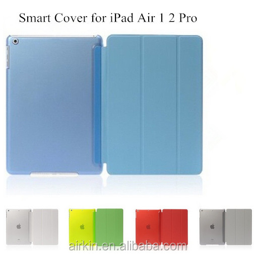Ultra Slim Three Fold PU Leather Hard Back Smart Stand Case Cover for iPad Air 1 2 Pro 9.7 10.5 inch For ipad air 2 Case