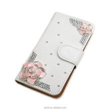 Hot Selling Luxury Cheap Price Wholesale bling diamond Pouch Case for LG LV5,For LG LV5 Diamond Wallet Case With Card Slot