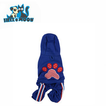 Wholesale Warm Plush Hoodie Pretty Top Paw Pet Dog Clothes With 4 Legs