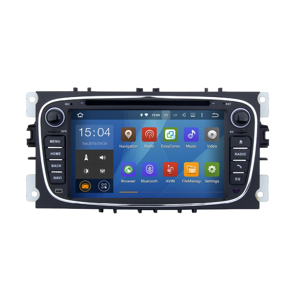 7 inch Rear Camera Digital TV Android 5.1.1 car audio dvd player gps navigation system for Ford S Max