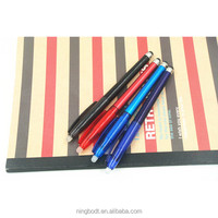 Colorful erasable ballpoint pens with black touch screen rubber