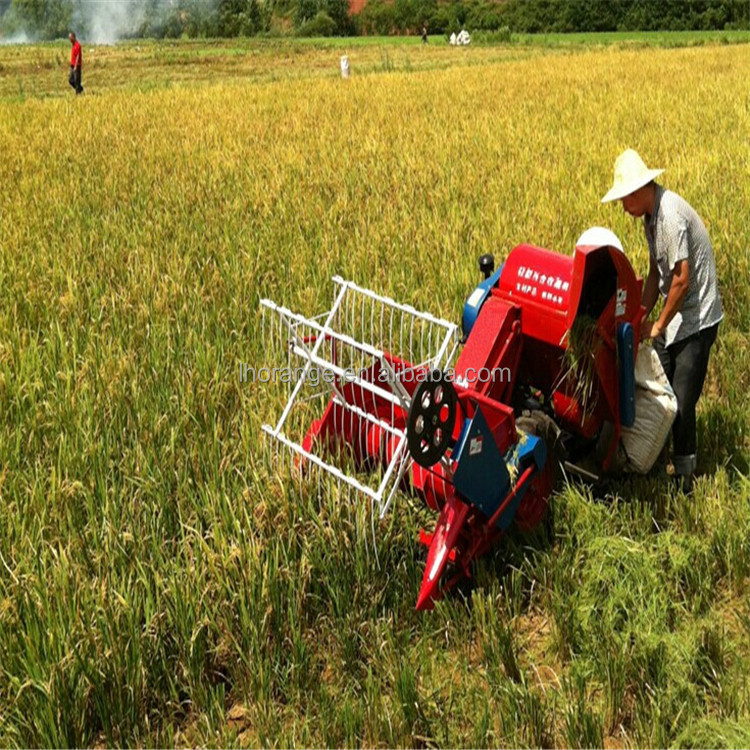 Good quality small rice paddy harvest machine