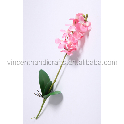 Craft outlet artificial decorative pink butterfly orchid silk flower fake flower for home, office, wedding, party decor