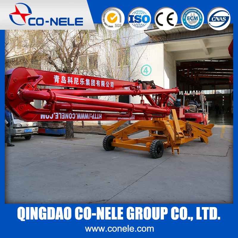 best price concrete pouring pump placing boom equipment