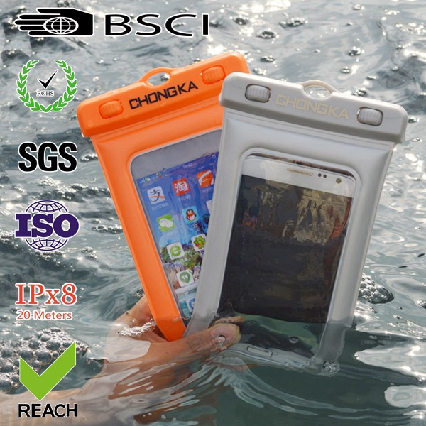 2015 hot sale cute pvc waterproof mobile phone case for iphone 4 bag