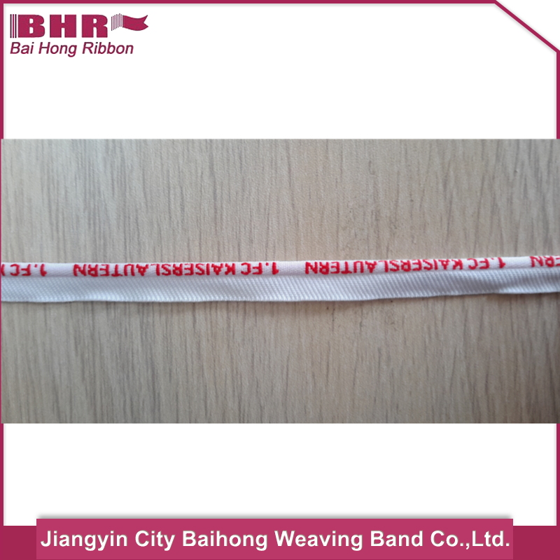 white color custom jacquard piping cord