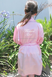 Custom made Flower girl robe Long Nightgown Satin Robes 51313