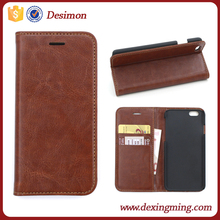 magnetic closure Ultra Slim thin case for iphone 6 plus slim leather case cover
