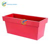 Large Red Rectangle Shape home decor Metal Flower Pot