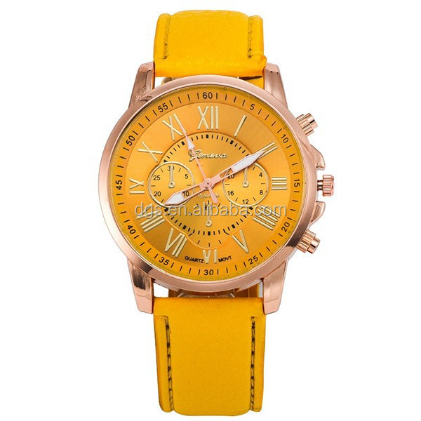 Geneva Watch Romanization Leather Watch Double Literally Leather Watches