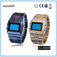 chinese wholesale custom men wooden handmade watches oem hand watch manufacturer