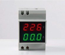 D52-2042 Double Display DIN RAIL Red Green AC80-300V AC Voltmeter Alternationg Voltage Current Meter, voltmeter ammeter