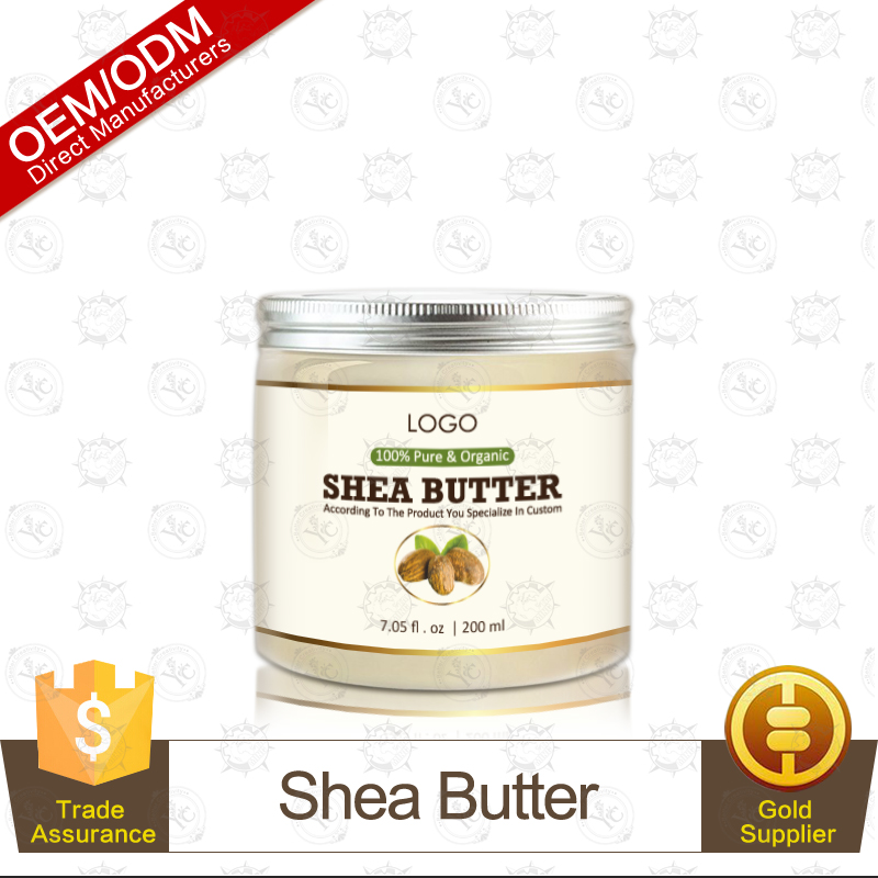 OEM Supply Pure Body Naturals AAA+ Unrefined Organic Shea Butter Cream Moisturizing Body 200ml