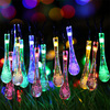Solar Outdoor String Lights, 20ft 30 LED Water Drop Solar String Light,Solar Fairy String lights for Garden, Patio, Yard, Home