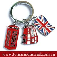 hot selling keyring for London souvenir with double decker bus