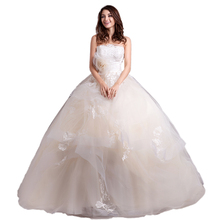 Alibaba Wholesale Wedding Dress Bridal Gown Import Guangzhou Light Champagne Ball Gowns Wedding Dresses 2018