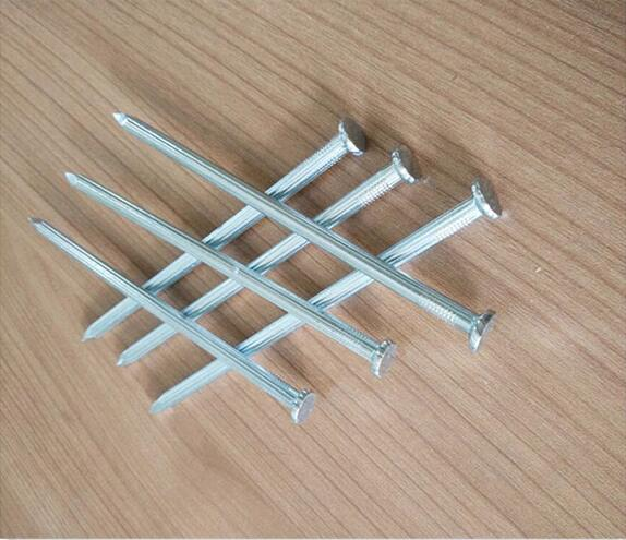 45# steel flat head galvanized bluish concrete nails for building materials