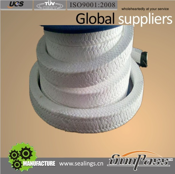 Ptfe Joint Sealant Food Grade Without Oil Pure PTFE Braided Gland Packing