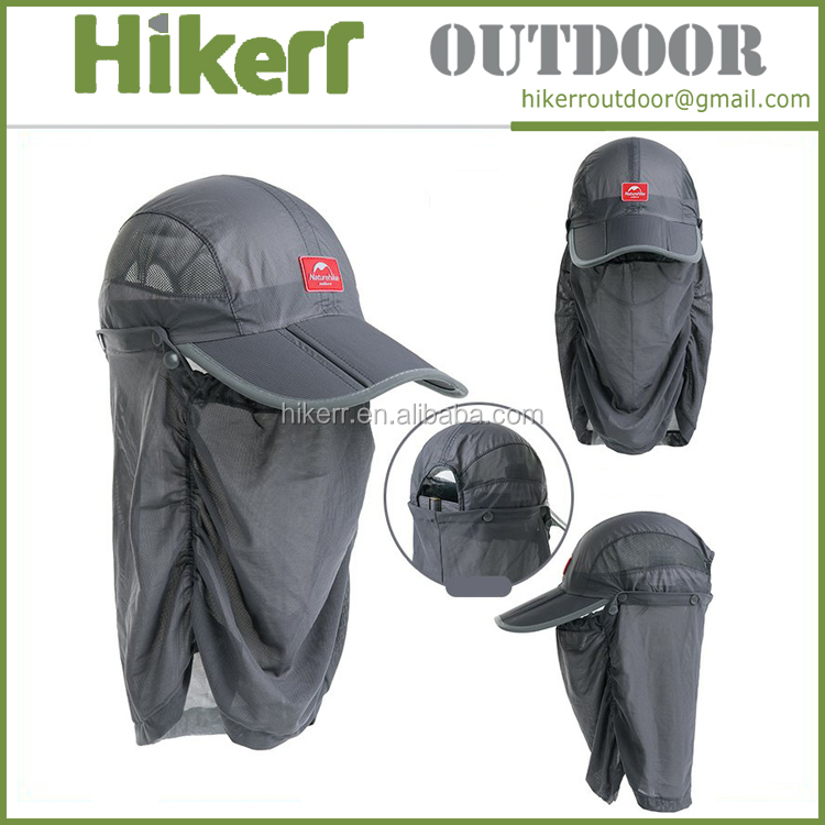 Naturehike outdoor net sun hat summer breathable mosquito cap visor hat fishing hat