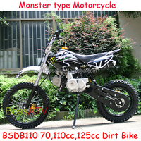 New Design Electric Start 110CC Dirt Bike 125CC Dirt Bike with Monster Sticker