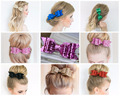 Europe and the United States popular glitter hair accessories ladies big bow hairpin headdress