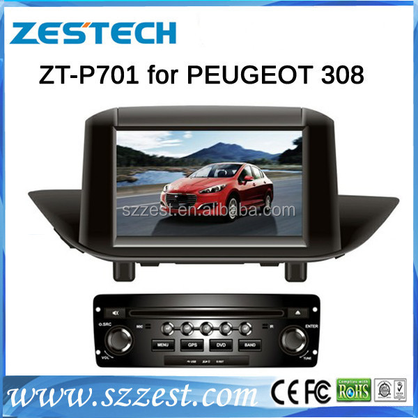 ZESTECH wholesale OEM car multimedia for Peugeot 308 car dvd gps with bluetooth 3g TV tuner