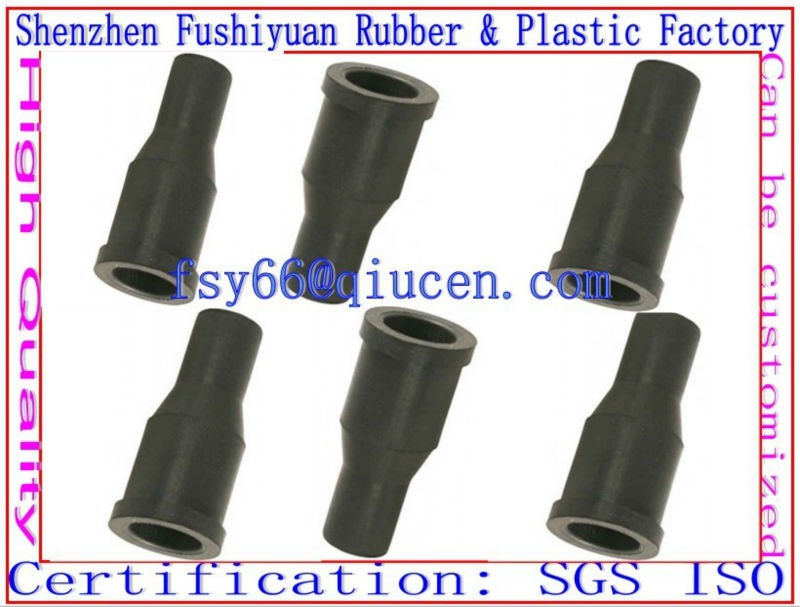 China Silicone rubber grommets black rubber pvc cable grommets / rubber tail holder