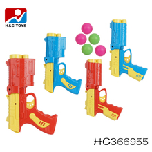 Funny plastic ball shooting gun toy table tennis gun toy ping pong ball gun HC366955
