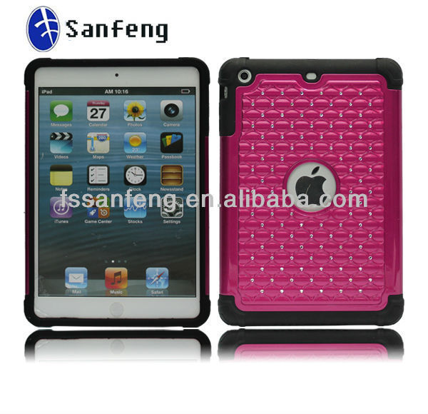 Factory Promotion!!!! Best Seller Diamond Bling Cell Phone Case for ipad mini ;Bling Cystal Case for ipad mini