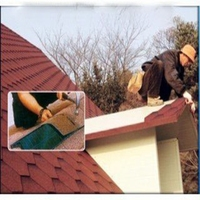 Factory Red Laminated Asphalt Roofing Shingles / colorful Fiberglass Asphalt Shingle