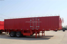 Factory 2-axle Box Van Semi Trailer 40ft Container Truck