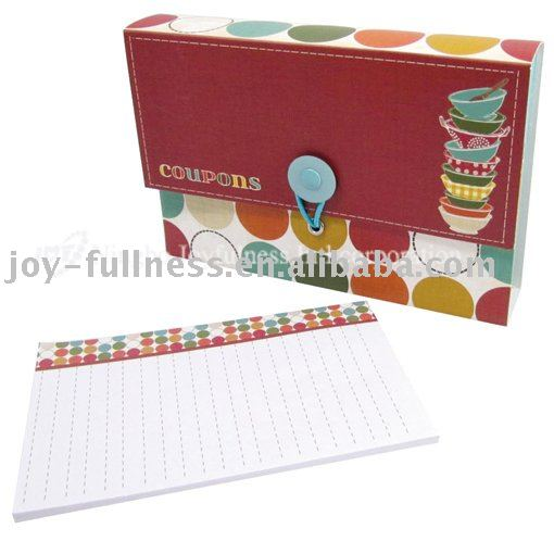 CUOPON ORGANIZER WITH SHOPPING LIST PAD