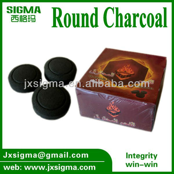 Best Quality Bamboo Tablet Charcoal /Round Charcoal for Shisha