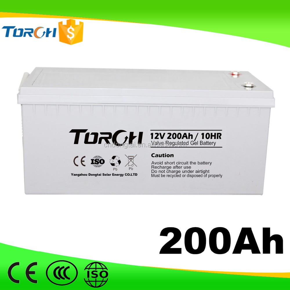 Manufacture deep cycle solar energy storage battery 12v 200ah