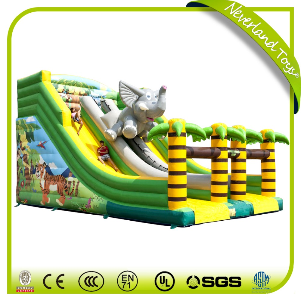 Commercial Grade palm tree inflatable water slide for kids