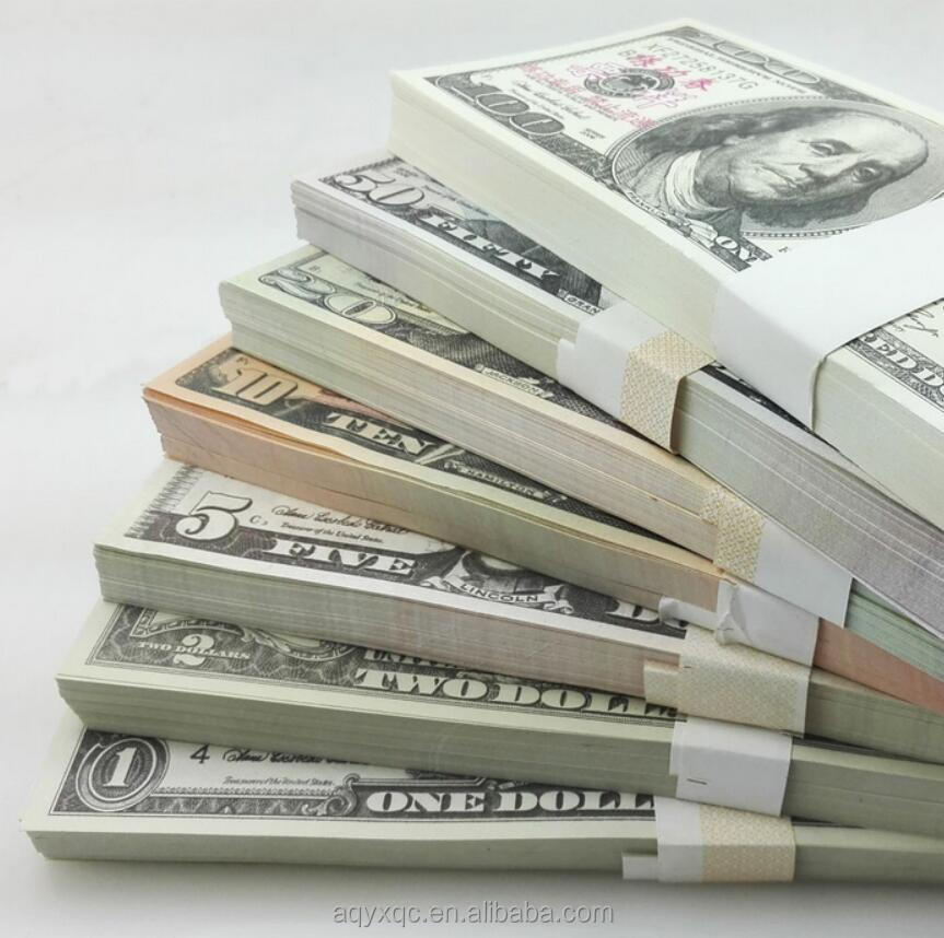 Play money Dollars with different amount