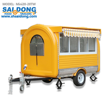 stainless steel Mobile food carts trailer for sale/food truck/outdoor food kiosk