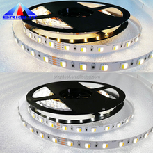 Double color flexible SMD 5050 LED Strip Light , color temperature changing Warm white pure white led strip 2500K to 6500K