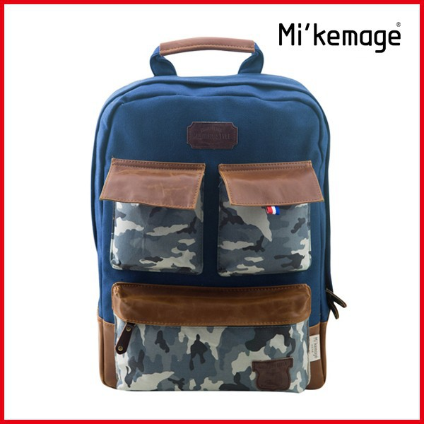 2014 New Fashion Big Military Canvas Backpack