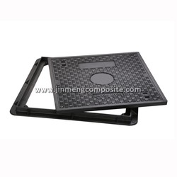 EN124 B125 well lid pvc manhole cover hinged with lock