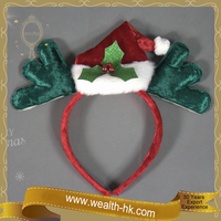 Christmas Santa Claus Hat with Deer Antlers Decoration Headband